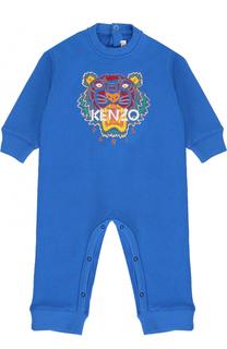 Хлопковый комбинезон с вышивкой Kenzo