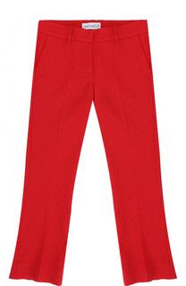 Укороченные расклешенные брюки фактурной вязки Simonetta