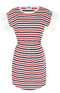 Приталенное мини-платье в полоску Sonia by Sonia Rykiel