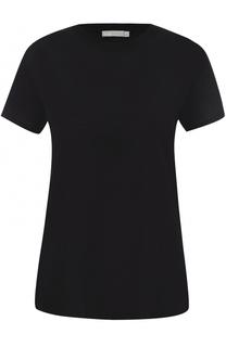Хлопковая футболка с круглым вырезом Vince