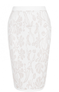 Вязаная юбка-карандаш с принтом D.Exterior