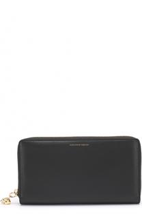 Кожаное портмоне на молнии с отделениями для кредитных карт и монет Alexander McQueen