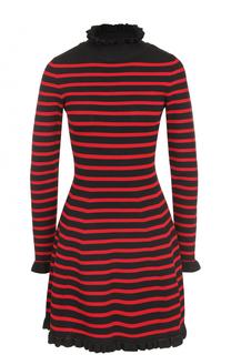 Приталенное мини-платье в полоску REDVALENTINO