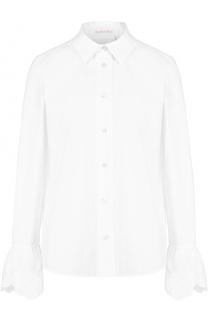 Хлопковая блуза прямого кроя с расклешенными рукавами See by Chloé