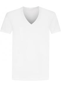Хлопковая футболка с V-образным вырезом La Perla