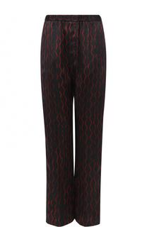 Шелковые брюки прямого кроя с эластичным поясом Isabel Marant