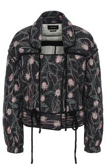 Приталенная укороченная куртка с цветочным принтом Isabel Marant
