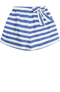 Хлопковые шорты в полоску с бантом Stella Jean