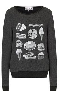 Пуловер свободного кроя с принтом Wildfox