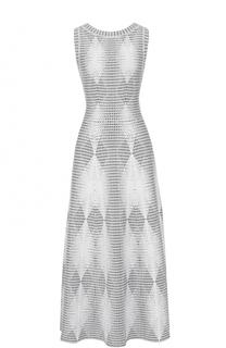 Приталенное вязаное платье-макси Alaia