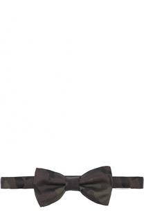 Шелковый галстук-бабочка с камуфляжным принтом Valentino