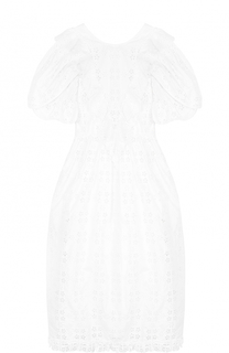 Кружевное приталенное платье с открытой спиной Simone Rocha
