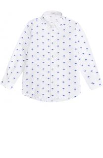Хлопковая рубашка с декоративной вышивкой Il Gufo