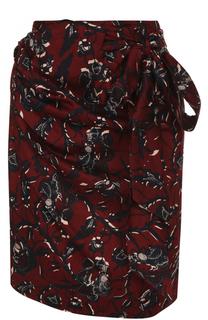 Мини-юбка с драпировкой и цветочным принтом Isabel Marant Etoile