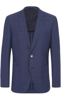 Шерстяной приталенный пиджак BOSS