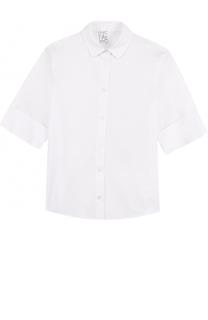 Блуза из эластичного хлопка с отворотами Stella Jean