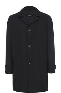 Однобортное пальто с отложным воротником HUGO
