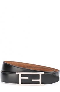 Кожаный ремень с металлической пряжкой Fendi
