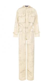 Приталенный комбинезон с капюшоном и накладными карманами Ralph Lauren