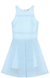 Платье с фактурной отделкой David Charles