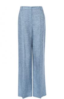 Льняные расклешенные брюки со стрелками Escada Sport