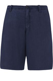 Льняные бермуды с карманами Armani Jeans