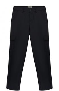 Шерстяные брюки с накладными карманами Kenzo