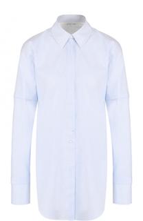 Удлиненная хлопковая блуза свободного кроя Helmut Lang