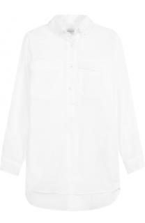 Удлиненная полупрозрачная блуза свободного кроя Dries Van Noten