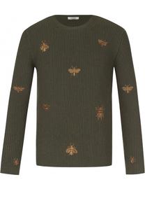 Джемпер из смеси шерсти и кашемира с вышивкой Valentino
