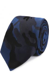 Шелковый галстук с камуфляжным принтом Valentino