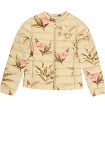 Стеганая куртка с принтом Moncler Enfant