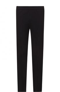 Шерстяные брюки прямого кроя с поясом на резинке Z Zegna