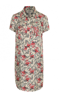 Шелковое платье с бахромой и цветочным принтом Zadig&Voltaire Zadig&Voltaire