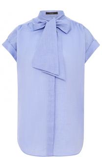 Блуза с коротким рукавом и воротником аскот Windsor