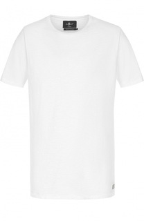 Хлопковая футболка с круглым вырезом 7 For All Mankind
