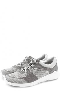 Текстильные кроссовки Skyler на шнуровке MICHAEL Michael Kors