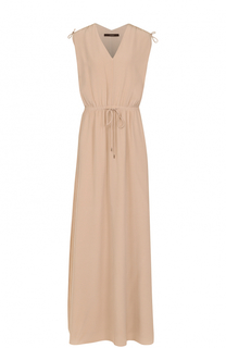 Шелковое платье-макси с V-образным вырезом Windsor