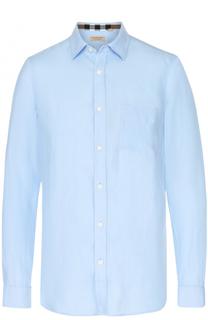 Льняная рубашка с воротником кент Burberry
