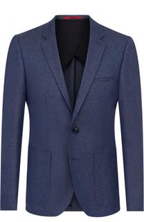 Шерстяной приталенный пиджак HUGO