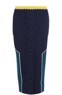 Вязаная юбка-карандаш с принтом Maison Margiela