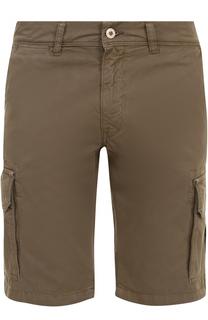 Хлопковые шорты с накладными карманами 7 For All Mankind