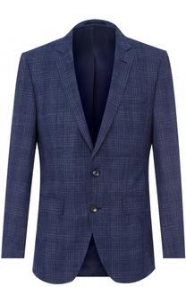 Хлопковый приталенный пиджак BOSS