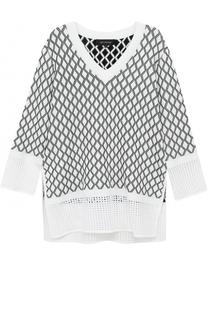 Пуловер свободного кроя с V-образным вырезом St. John