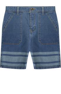 Шорты с принтом и накладными карманами Marc Jacobs