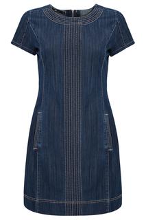 Джинсовое платье с карманами oodji
