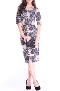 Элегантное платье приталенного силуэта с принтом Dioni