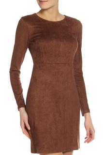 Прилегающее платье с длинным рукавом oodji
