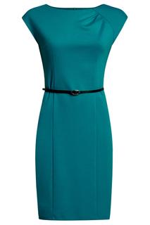 Классическое платье с ремнем oodji