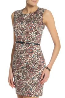 Платье с ремнем oodji